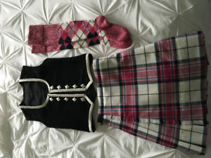 Size 8 Girls Highland dance kiltie outfit