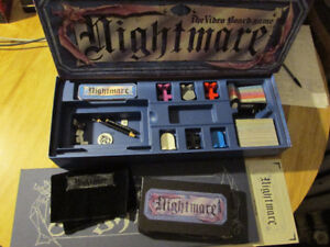 NIGHTMARE Board Game Horror VHS VCR Chieftain Vintage 1991