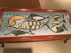 Funky mosaic coffee table