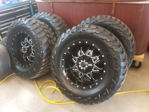 New 37 inch tires on 20 inch wheels for sale