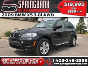 2009 BMW X5 3.0i AWD w/Leather, Sunroof, Backup Cam $179 B/W INS