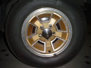 Vintage rally wheels