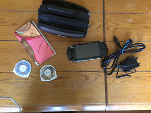 PSP With Case and Games For Sale
