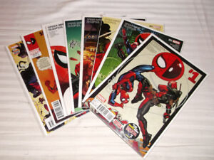 SPIDERMAN / DEADPOOL COMPLETE RUN #1 TO #8 ALL 1ST PRINTS IN NM