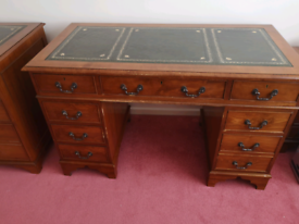 Vintage style Desk, filing cabinet and captains chair