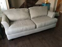 Light gray fabric couch