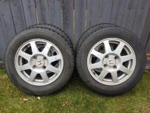 4 winter tires on aluminum rims for Honda Accord