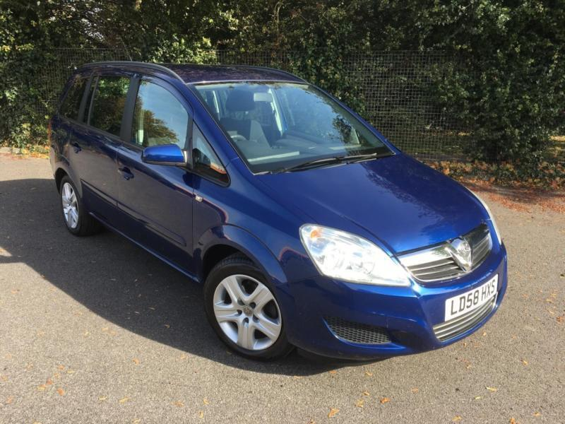 VAUXHALL ZAFIA 1.6 EXCLUSIVE 7 SEATER BLUE 5 DOOR PETROL MANUAL 2008