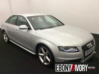 Audi A4 2.0 TDI 143 S LINE 4dr SALOON + FULL AUDI SERVICE HISTORY INC CAMBELT (silver) 2009