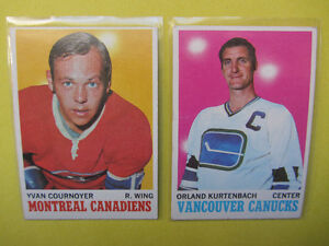 55 hockey cards 1970-71 to 1977-78: Potvin RC, Cournoyer