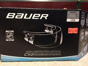 Bauer HDO ProClip CX2 Straight Cut Helmet Replacement Visor Lens