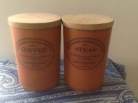Vintage english Henrry Watson's Terracota potteries coffe and tea