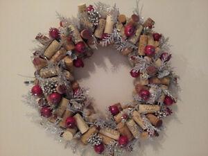 ONE OF A KIND WINE CORK CHRISTMAS WREATH!! Kitchener / Waterloo Kitchener Area image 1