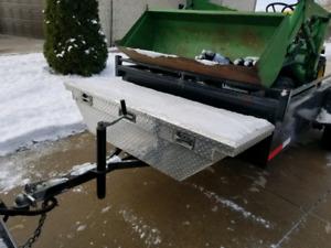 Aluminum box for truck or trailer
