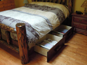 hand crafted timber or log beds,locally based Comox / Courtenay / Cumberland Comox Valley Area image 4