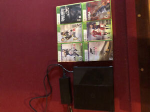 XBOX 360 500GB with 6 games