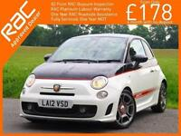 2012 Abarth 500 1.4 Turbo 135 BHP 5 Speed Full Leather Bluetooth Only 36,000 Mil