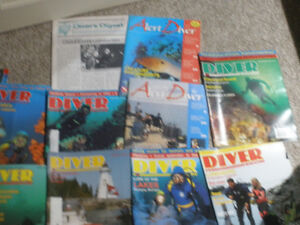 Canadian Diving magazines and 2 DAN diving magazines
