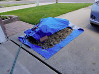 Dirt removal from driveway