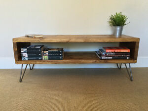 Hairpin tv table