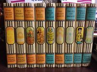 "Vintage set of ""Young Folks Library"" books"