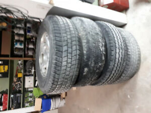 4 Tires and Rims from 2005 Chevy Tahoe