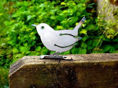 Cut Metal Rusty Carolina Wren Bird Garden Home Yard Window Outdoor Art Decor