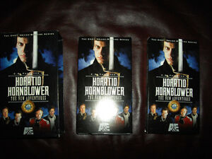 Horatio Hornblower all 8 films on 8 VHS tapes for Canada/US VCRs Windsor Region Ontario image 1