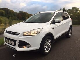 2015 15 Reg FORD KUGA TITANIUM 2.0 TDCI WHITE 6 SPEED MANUAL