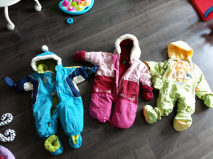 12 months or less baby clothes & snow suit