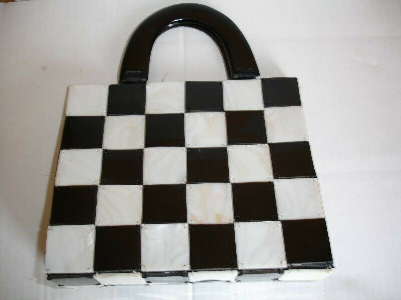 Accessorize Designer  Black/White  Square Handbag