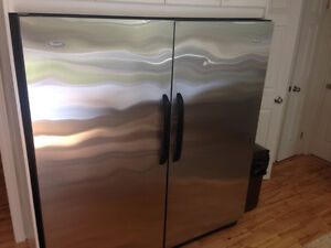 Stainless Fridge and Freezer combo