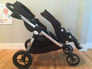 Black City select double stroller