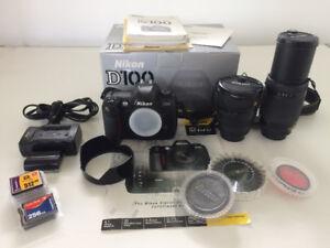 NIKON D-100 PLUS Lenses and more