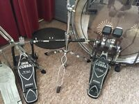 Tama iron cobra double bass drum pedals case and dw hammers