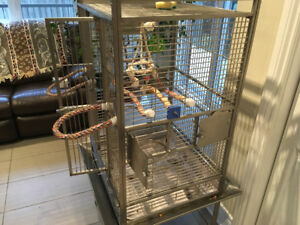 Stainless steel parrot cage. Was $1500; NOW $225