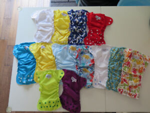 EUC applecheeks size 1, size 2, one size cloth diaper