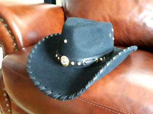 NEW designer Cowgirl Hat, Size M, Black.