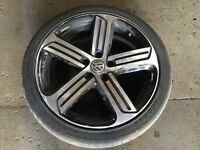 1 x VW GOLF R MK7 ALLOY WHEEL & TYRE CADIZ 18""