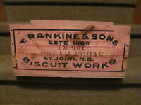 T. Rankine & Sons Biscuit Works wooden box $32