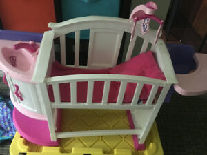 Kids doll bed