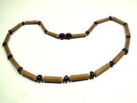 HANDMADE Hazelwood & Natural Genuine Baltic Amber necklace 17.5""