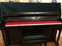 """Petrof 48"""" Black Piano"""