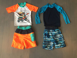 3t toddler boy summer clothes swimsuits NEW raincoat