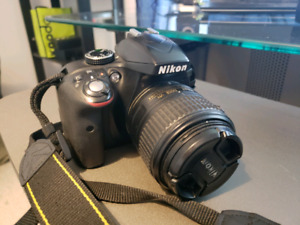 NIKON D3300 with charger and remote