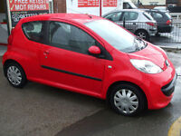 Peugeot 107 1.0 12v URBAN 3 DOOR HATCH IN RED 1 OWNER 6 MONTHS WARRANTY £20 TAX