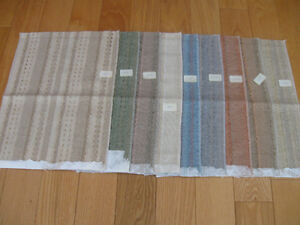 9 SWATCHES of NEW UPHOLSTERY MATERIAL..KOBE FABRICS