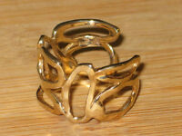 PRICE REDUCED: 10k gold art deco cuff ring, size 9