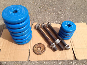 weider weights and bars $35