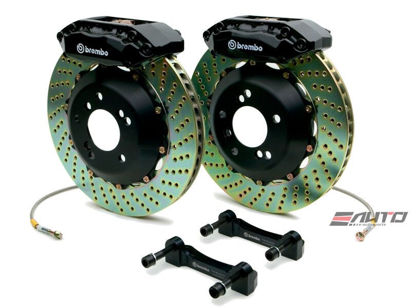 Brembo Front Gt Brake 4pot Black 313x28 Drill Disc Mx5 Mx-5 90-05 Na6c Na8c Nb8c